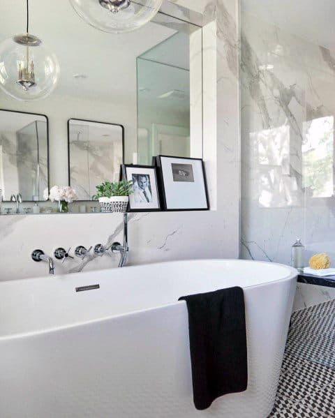 Modern Marble Bathtub Tile Ideas