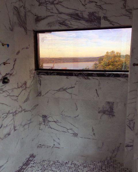 Modern Marble Shower Window Ideas