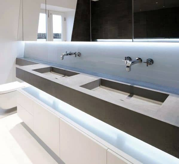 Modern Master Bathroom Vanity Cool Interior Ideas