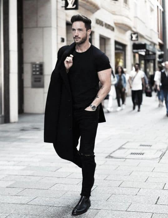 Modern Mens All Black Outfits Casual Style