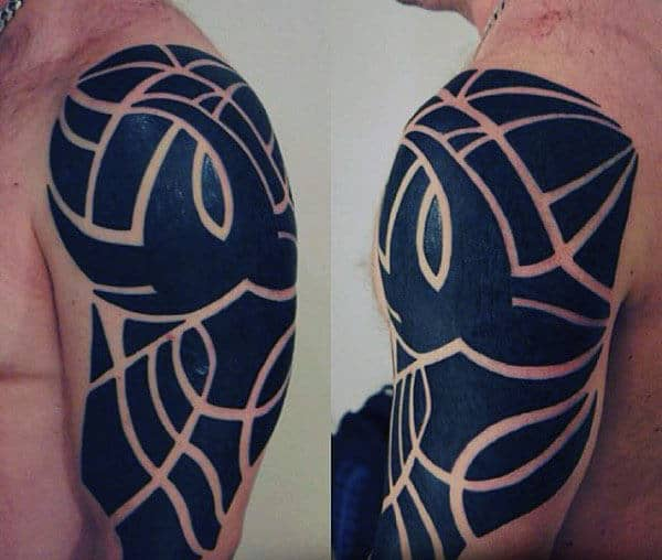 Modern Mens Arm Tribal Tattoos Inspiration