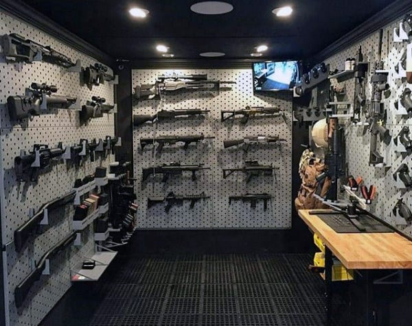 Modern Mens Armory Gun Room Ideas