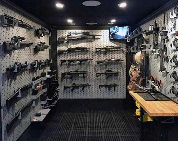 Modern Mens Armory Gun Room Ideas