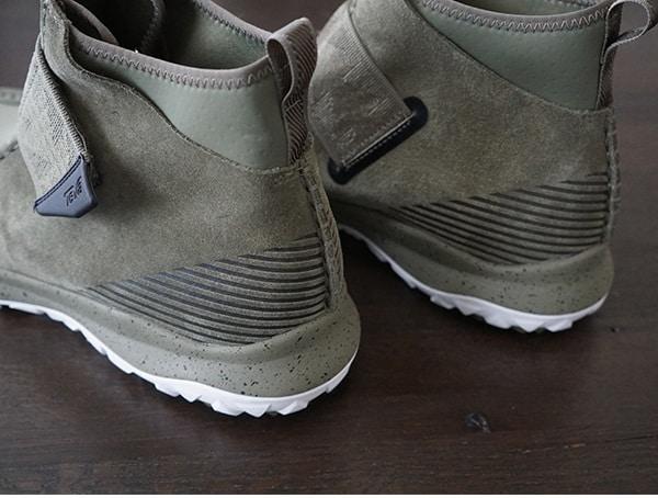 Modern Mens Chukka Boots Teva Peralta Burnt Olive Heel Detail