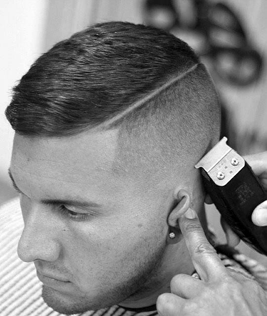 Modern Mens Haircut High And Tight With Low Fade