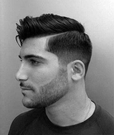 Modern Mens Hard Part Haircut With Low Fade