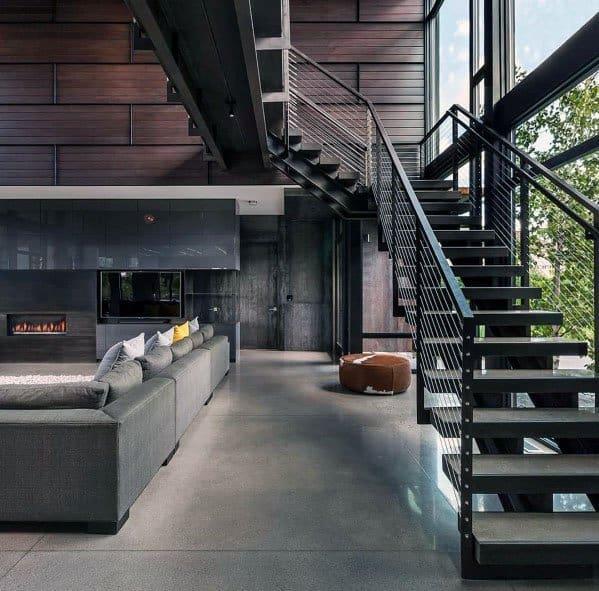 Modern Metal Stair Railing Ideas Inspiration