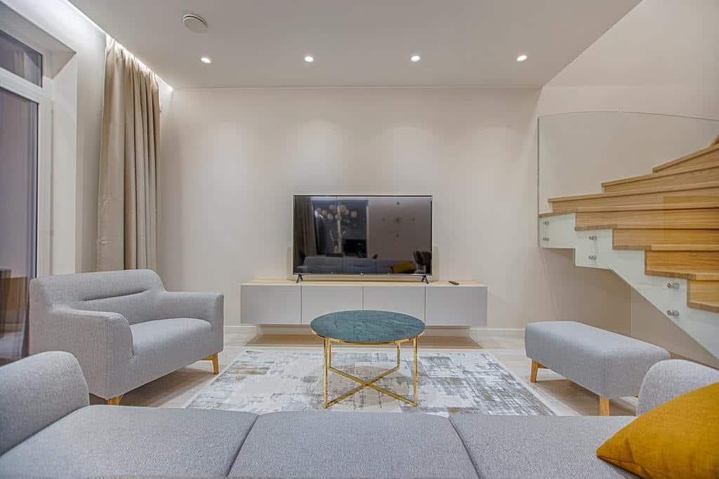 Modern Minimalist Living Room 9