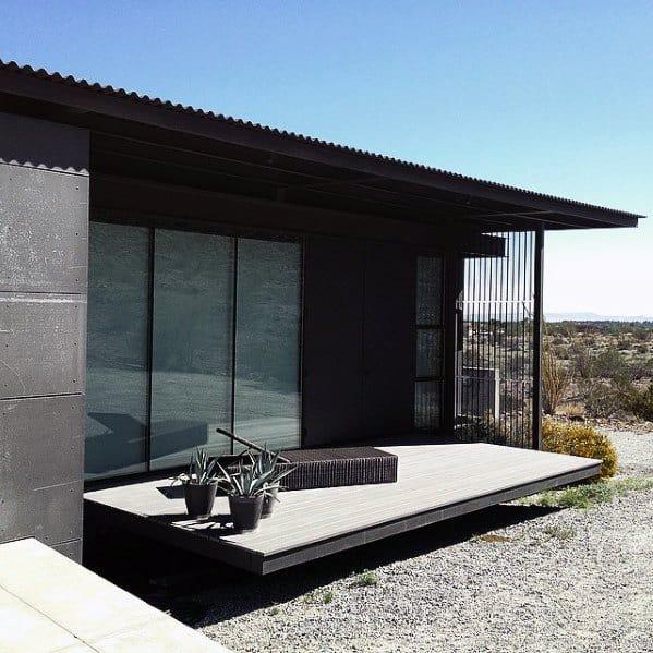 Modern Minimalistic Home Backyard Designs Floating Deck