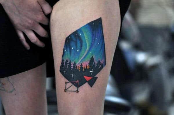 50 northern lights tattoo designs for men aurora