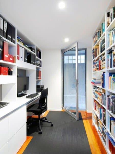 Modern Office Home Ideas Floor To Ceiling Bookshelves