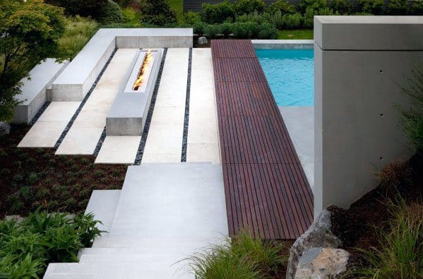 Modern Outdoor Fire Pit Seating Design Ideas