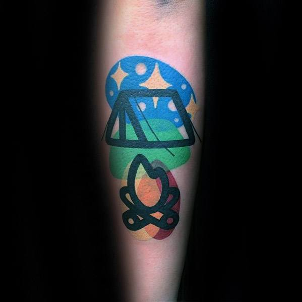 Modern Outer Forearm Remarkable Tent Tattoos For Males