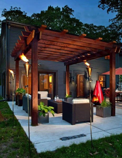 Modern Patio Backyard Design