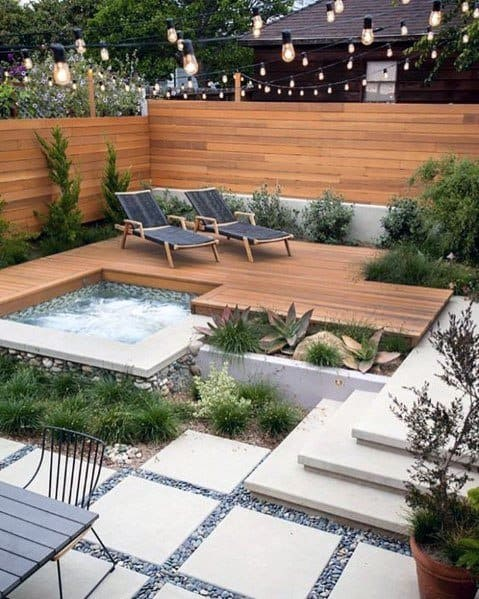 Modern Patio Designs River Rock Landscaping