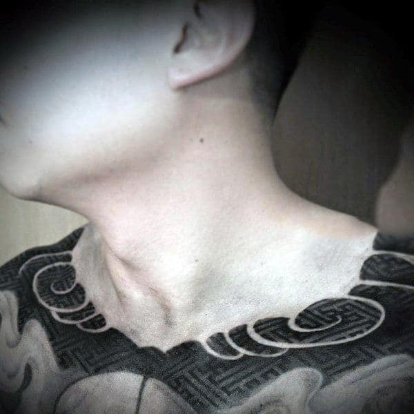 Modern Pattern Collar Bone Mens Tattoos