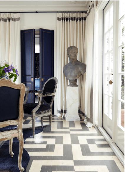 Modern Pattern Interior Designs Painted Floor