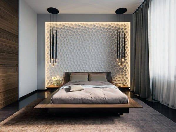 Modern Pendants With Leds Bedroom Lighting Interior Design