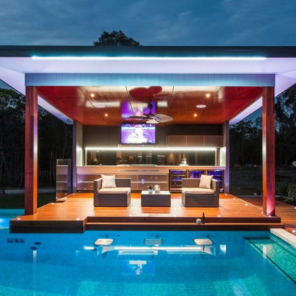 Modern Pool Outdoor Bar Ideas