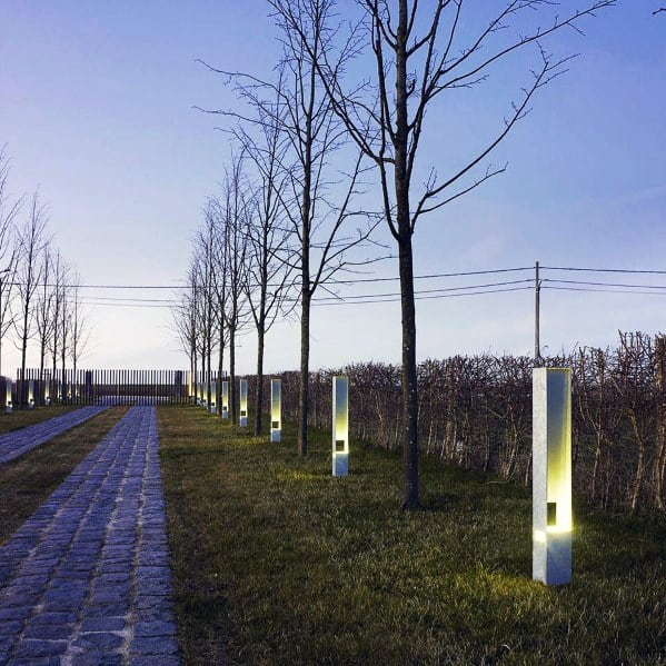 Modern Posts Led Driveway Landscape Lighting Ideas