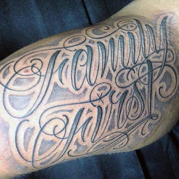 Modern Print Dark Family First Tattoo Guys Arms