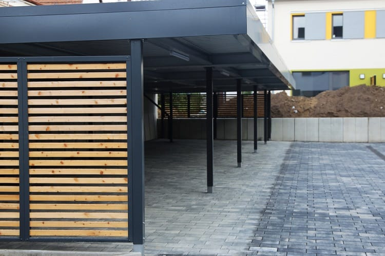 Modern Residential Complex Double Carport