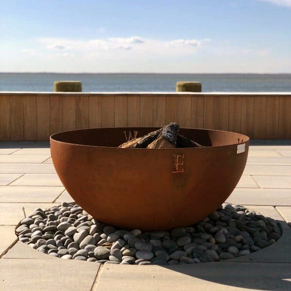 Modern Round Home Ideas Steel Fire Pits