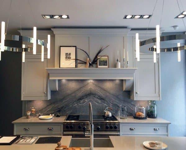 Modern Round Polished Nickel Chandelier Ideas For Home Kitchen Island Lighting