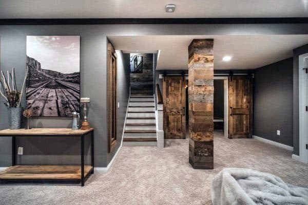 Modern Rustic Basement Ideas