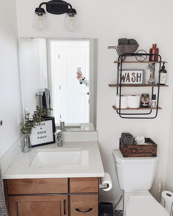Modern Rustic Farmhouse Bathroom Decor Rural Haven