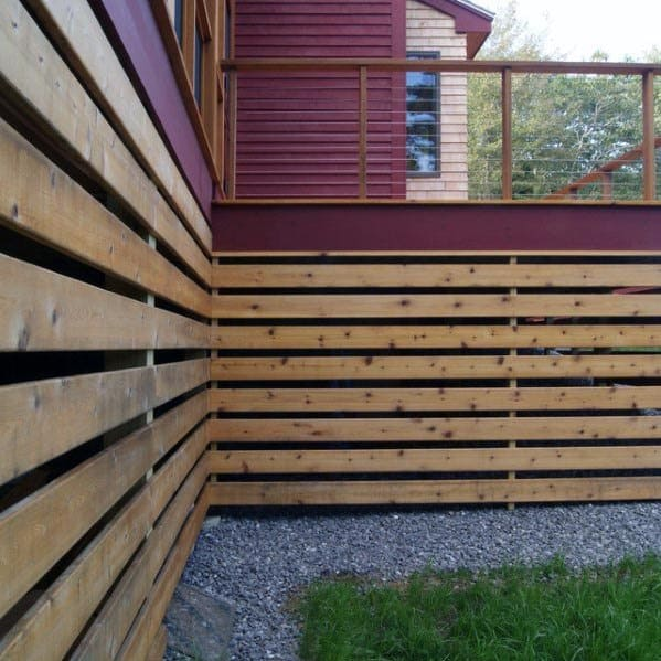 Modern Slats Deck Skirting Home Ideas