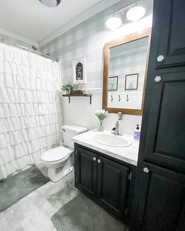 Modern Small Farmhouse Bathroom The Heringer House