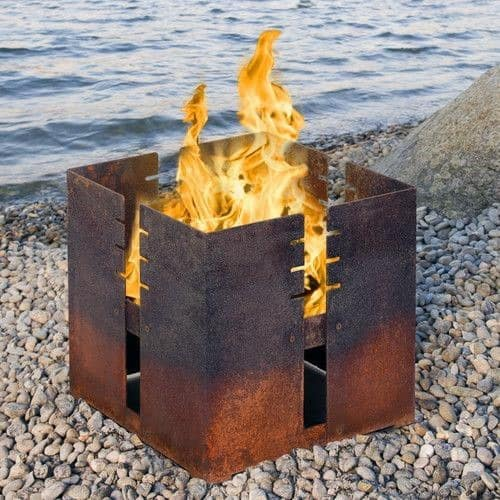 Modern Square Ideas For Steel Fire Pits