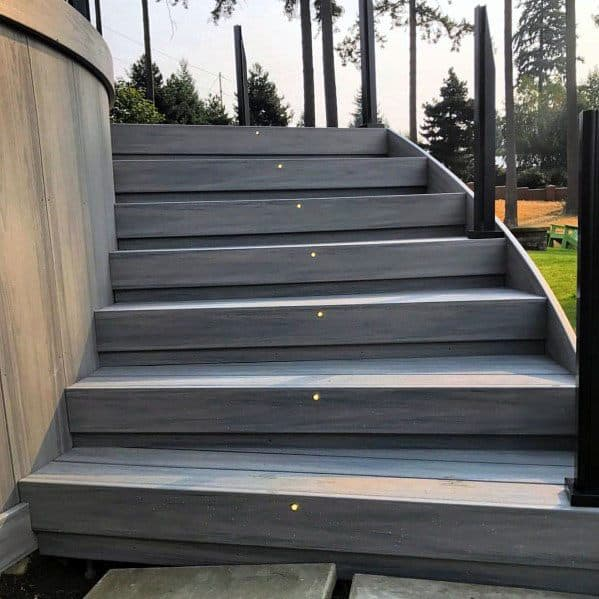 Modern Stairs Led Deck Lighting Cool Exterior Ideas