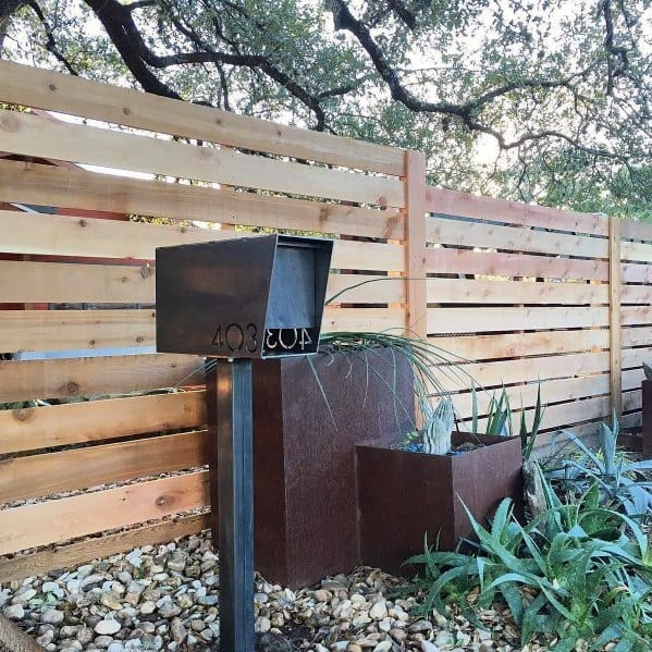 Modern Steel Mailbox Landscaping Ideas