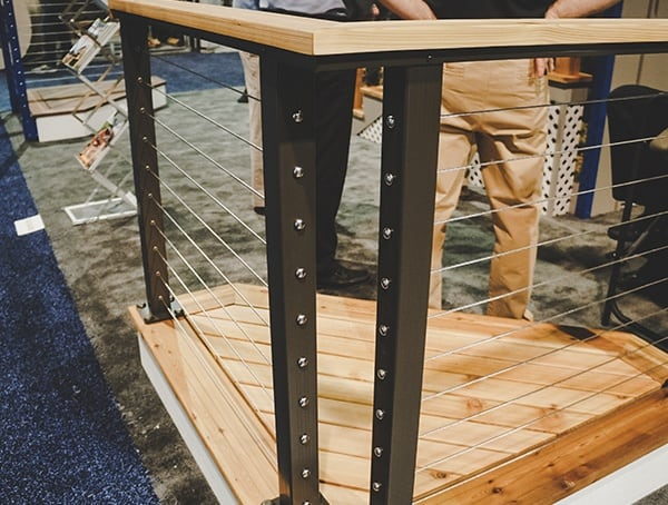 Modern Steel Wire Cable Railing With Wood Handrail Nahb 2019 Show