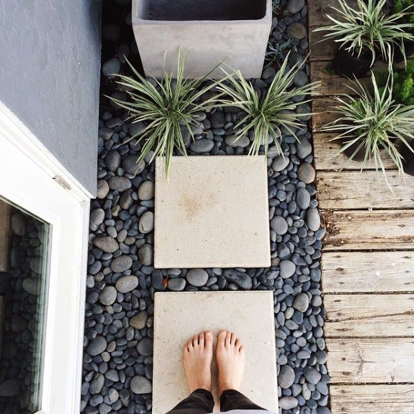 Modern Stepping Stone With Rocks Landscaping Ideas