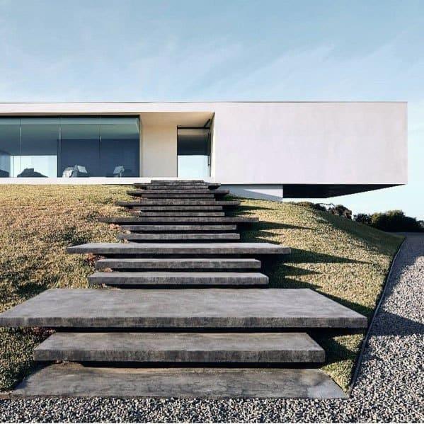 Modern Steps Designs Concrete Walkway