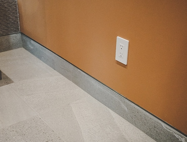 Modern Stone Baseboard Trim With Reveal New American Home 2019