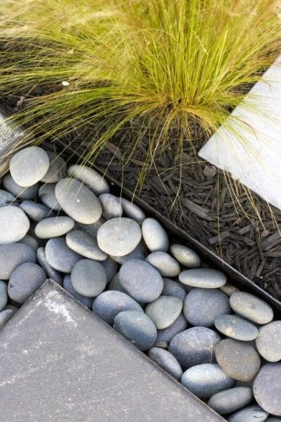 Modern Stone Edging Exterior Ideas