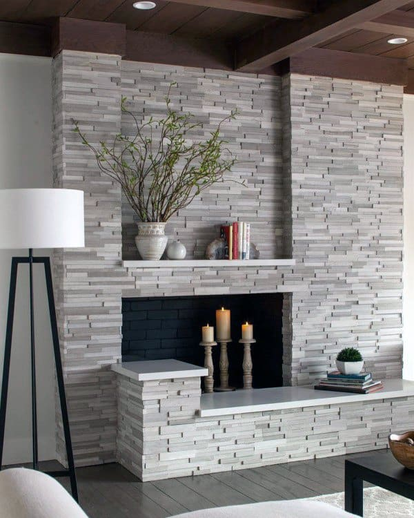 Discover traditional style with the top 70 best stone fireplace design ideas. Explore rustic rock wall interiors with the glow of a wood fired flame.
