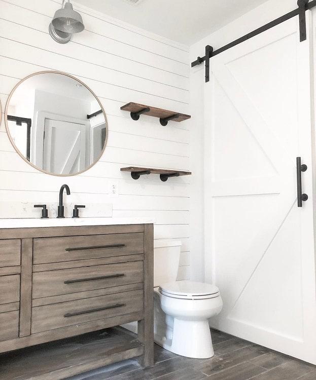 Modern Stylish White Barn Door