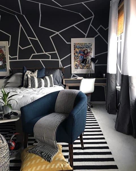 Top 70 Best Teen Boy Bedroom Ideas - Cool Designs For ... on Teenage Room Colors For Guys  id=85683