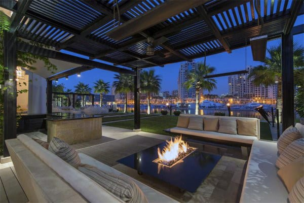 Modern Terrace With Outdoor Fire Put