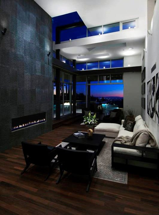 Modern Ulta Luxury Bachelor Pad Living Room Inspiration