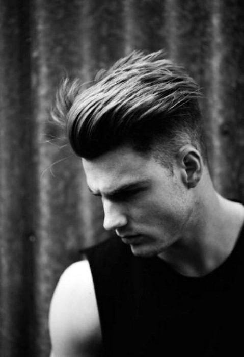 Modern Undercut Hairstyles For Men With Slicked Back Hair On Top Medium Length