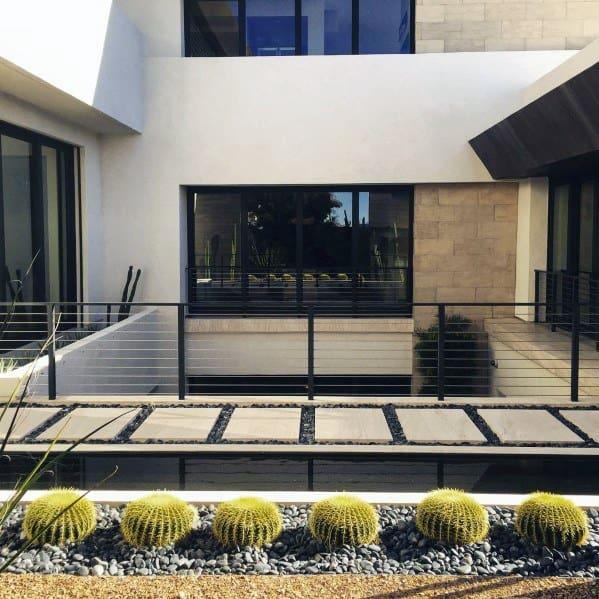 Modern Walkway Stepping Stone Landscaping Ideas
