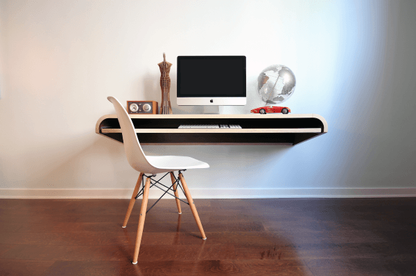 Modern Wall Desk Small Home Office Ideas For Men