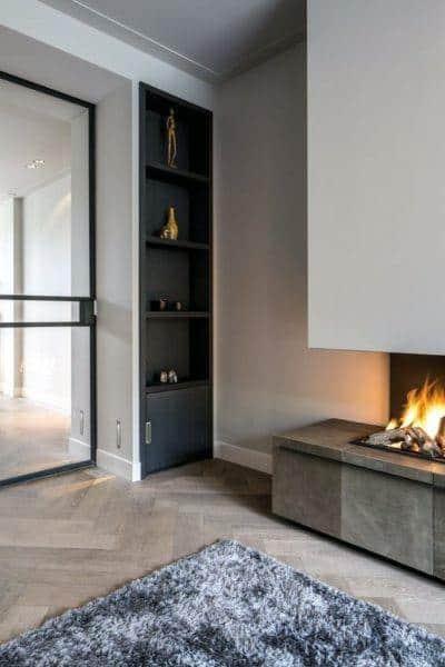 Modern Wall Fireplace Design