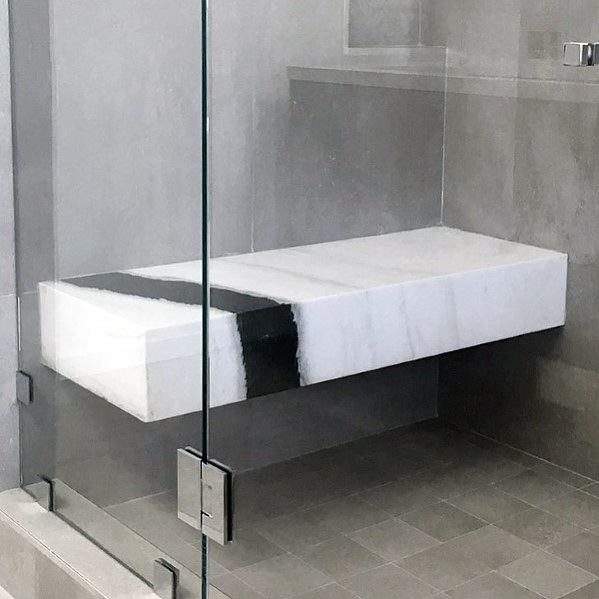 Top 50 Best Shower Bench Ideas - Relaxing Bathroom Seat